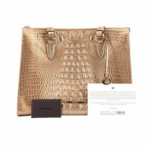 NWT BRAHMIN ROSE GOLD ANYWHERE TOTE MELBOURNE